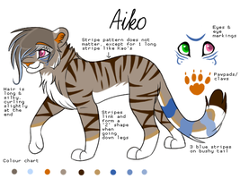 Aiko ref sheet by Spottedfire94