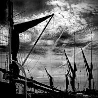 Maldon Barge Masts by Coigach