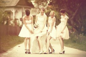 ..and her bridesmaids by Sssssergiu