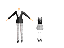 MMD-PMD-High uniforms -DL- by Voca-Chan