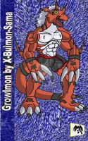 Growlmon 3rd. by X-Buimon-Sama