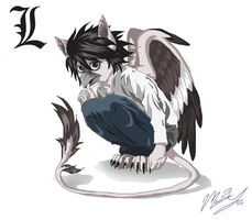 DEATHNOTE 'L' as a griffen! by GriffenGirl