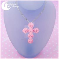 Blooming cross Necklace by CuteMoonbunny