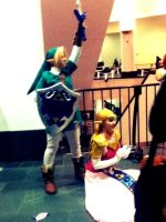 Link and Zelda by neon-talon-claw