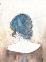 Blue Hair by valerievargas