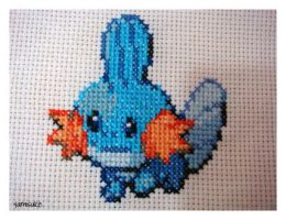 Cross Stitch: Mudkip by Yamisuke