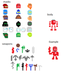 8bit Bionicle Sprite Kit by JacobLazer