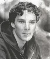 Benedict Cumberbatch- 'Half'Portrait by silvermoon442