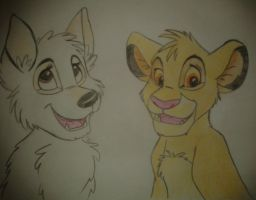 Simba and Lucy by B-DawgKC