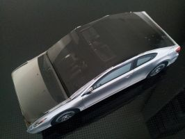 Scion tC Papercraft Top Perspective by gpsc