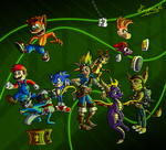 Video Game Heroes by CartoonSilverFox