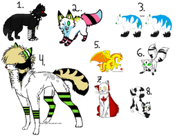 Old characters -Open- (Offer to adopt) by Aladdin-The-Sergal