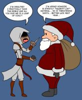 Altair vs. Santa by Kaxen6