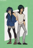 Hei-an and Yang by WillowLightfoot