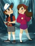 Mabel and Dipper by YaneYing