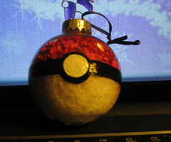 Pokeball Ornament by Pineconegurl