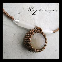 Cat's Eye Necklace by PurlyZig
