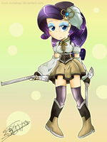 Rarity Tomoe Magica by IruNekagi