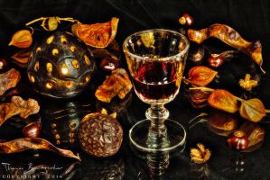 Still life with red wine II by Argolith
