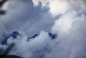 Cloudy Mountain Tips by ExposeTheBeauty