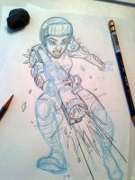 Biker Girl_sketch by tombancroft