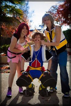 Kingdom Hearts- Destiny's Trio by twinfools