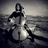girl and cello by amsterdam-jazz