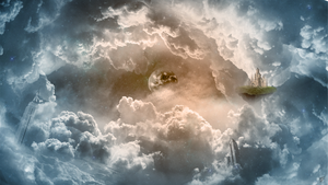 Photoshop Manipulation: Cloud and World by BeroGraphic