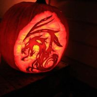 Dragon Pumpkin by HotKittie