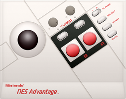 NES Advantage by BLUEamnesiac