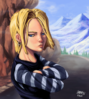 Cold Stare and Hooped Earings by dkirbyj