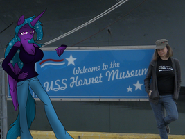 flutternight and i at the uss hornet by DarkDreamingBlossom
