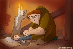 Resting by the candlelights by Animaniacs93
