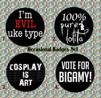 Ocasional Badges Set by yui-tohma