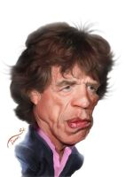 Mick Jagger Caricature by StDamos