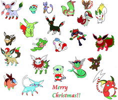 Christmas Pokemon Adoptables by Aven-Mochi