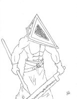 10-28-08 Pyramid Head by dragon-kun15