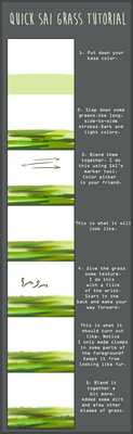 Quick SAI Grass Tutorial by SpytDragonFyre