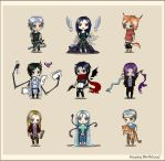 Chibi set by Sia-chan