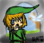 Link and Navi in a cave by Samagirl