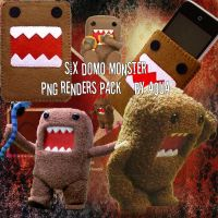 Domo Monster With 6 PNG Pack by Kuchiki-Hatsune