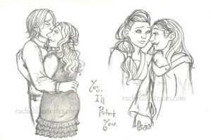 Sketches - Rumbelle, Sleeping Dragon by rachelillustrates
