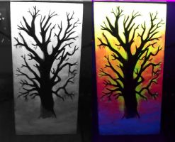 invisible UV painting-'air, water and black light' by DMVCustomDesign