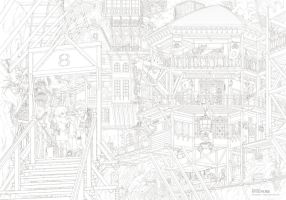 [SVIGNORE] Basehouse (line drawing) by Nonohara-Susu