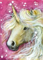 Charmer - Unicorn ACEO by BlackAngel-Diana