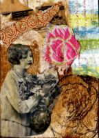 ATC:Lady with a flower vase by AeliaNaqwiDesigns