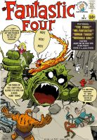 Fantastic Four No.1 rejected c by JBinks
