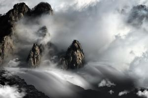Huang Shan Mountain DANCING CLOUDS by SAMLIM
