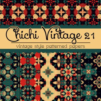 Free Chichi Vintage 21 Patterned Papers by TeacherYanie