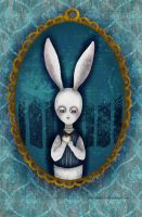 white rabbit by chuckometti